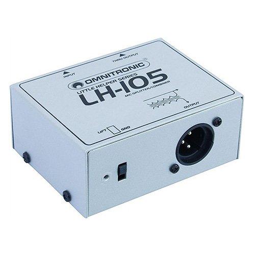 OMNITRONIC LH 057 233 105 DIVISOR MIC / COMBINADOR PLATA