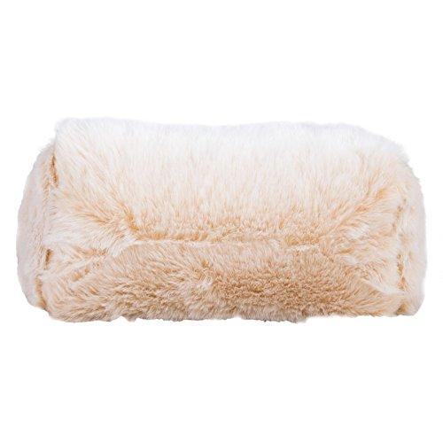 Lounge Pug, Fußhocker Pouf, Kunstfell Weiß