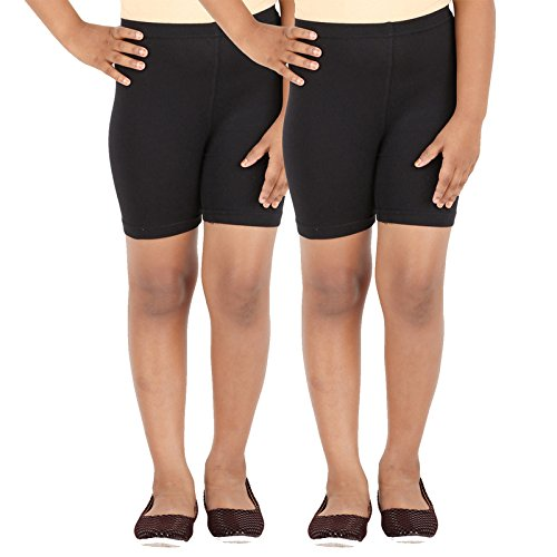 SCHOOL GIRL'S SPANDEX SHORTS PACK OF 2 (13-14 Years)