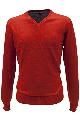 KITARO Pullover, V-Ausschnitt - S bis 6XL in 5 Farben Rot