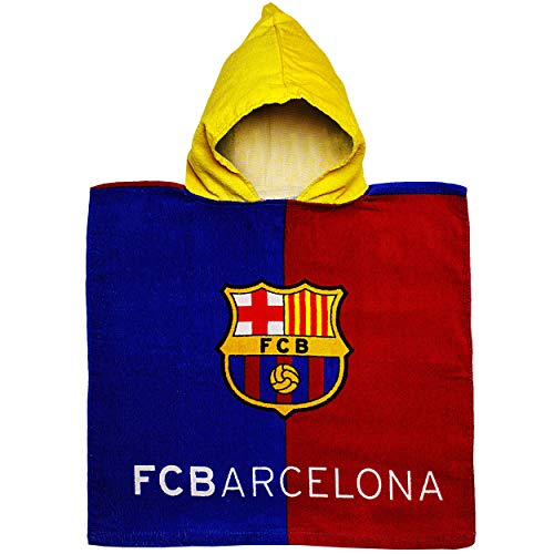 alles-meine.de GmbH Badeponcho / Kapuzenhandtuch - Fußball - FC Barcelona - FCB - 100 % Baumwolle - 50 cm * 105 cm - 2 bis 6 Jahre Poncho - mit Kapuze - Frottee / Velours - Handt.. Velours-poncho