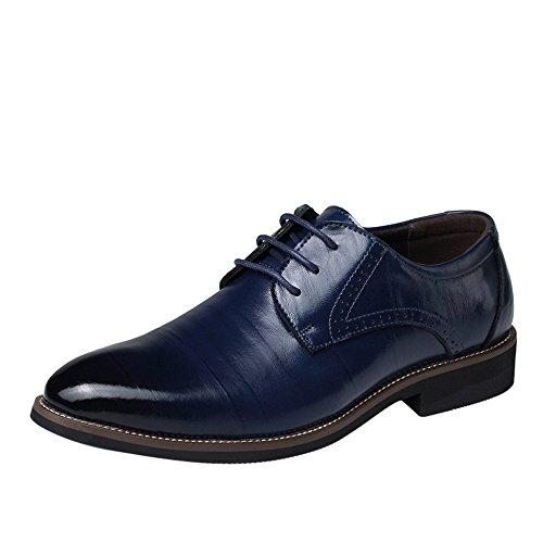Business Schuhe für Herren/Skxinn Herrenschuhe Schnürhalbschuhe Business Anzugschuhe Atmungsaktiv Lederschuhe Oxford Halbschuhe Party Hochzeit übergrößen 37-48 Ausverkauf(Marine,41 EU)
