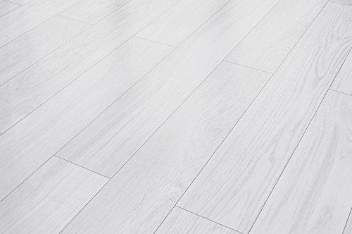 CLASSIC Designflooring Ulme weiss Landhausdiele PVC-frei 4 mm Ulme Laminat
