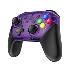 MASCARRY Replacement Shell Case for Switch Pro Controller, Super Switch DIY Faceplate and Backplate Case with Replacement Buttons and Handles for Switch Pro Controller (Atomic Purple)