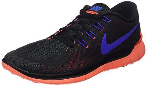 Nike Free 5.0 2016 Laufschuhe schwarz/rot/blau, Schuhgröße:EUR 38.5, Farbe:schwarz