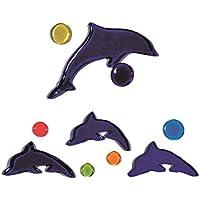 Outlook Design Gel Gems Mini Banner Decorazione, Modello Delfini Blu, Polimero Morbido Totalmente Atossico, Multicolore