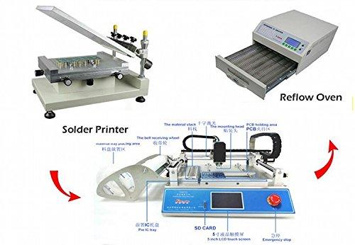 Gowe Lötpaste Drucker + Plektrum und Platzieren Maschine + Reflow-Ofen klein SMT Produktion Line, Rabatt.