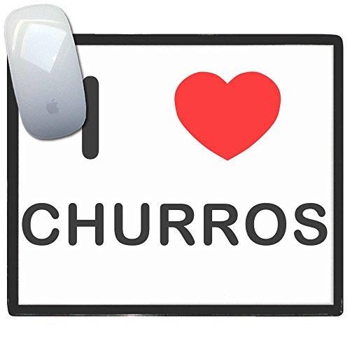 I Love Heart Churros - Alfombrilla para el ratón de plástico