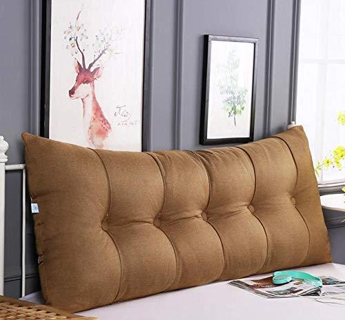 HOMDREAM Stilvolles Kopfteilkissen Für Einzel- Doppel- Kingsize- / Bettkopfteile Aus Luxuriösem Leinengewebe Erhältlich In Vier Größen Und Fünf Farben,Brown-60 * 60 * 20cm(2ft)