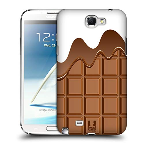 Head Case Designs Cioccolata Sciolta Ciccolata Cover Dura per Parte Posteriore Compatibile con Samsung Galaxy Note 2 II N7100