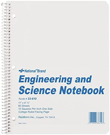 Engineering & Science Notebook, College Rule, Ltr, WE, 60 Sheets/Pad | à La Mode