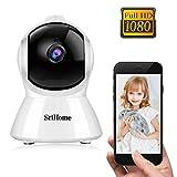 Caméra de Surveillance WiFi Intérieur, Srihome SH025 Caméra IP WiFi 1080P avec Détection de Mouvement, Audio Bidirectionnel pour Bébé/Maison