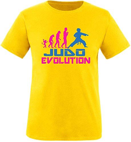EZYshirt® Judo Evolution Herren Rundhals T-Shirt Gelb/Pink/Blau