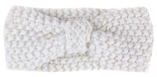 Eozy Baby Mädchen Elastic Schleife Stirnbänder Haarbänder Kopftuch Weiß