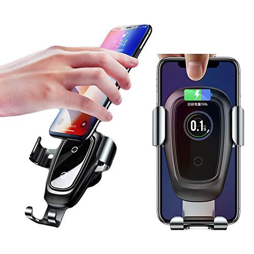 Caricabatteria da auto wireless, supporto per telefono per auto caricatore wireless compatibile con Apple iPhone X / 8 / 8Plus Galaxy Note 7 / S9 / S8 + / 5 / S6 Nota 5 / S6