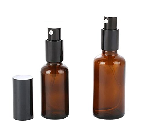 2PCS 30ml / 50ml Bouteilles de pomme de verre avec des bouteilles de bec remplaçables à la pipette Maquillage Crème cosmétique Lotion Articles de toilette Conteneurs de stockage liquides Jar Pot