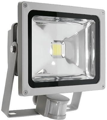Lumira LED Fluter Scheinwerfer 30 Watt mit Bewegungsmelder kaltweiß Außenstrahler von Lumira auf Lampenhans.de