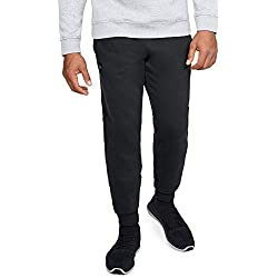Under Armour Rival Fleece Jogger Pantalones, Hombre, Negro (Black/Black 001), M