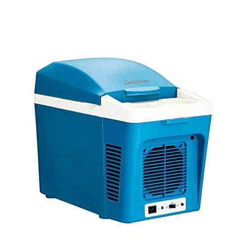 WJSWBX 7L Blue Refrigeration Car Kühlschrank, kaltes und warmes Auto Dual-Use Low Consumption, Ultra-leise 220V AC / 12V DC - Dual-temperatur-wein-kühlschrank