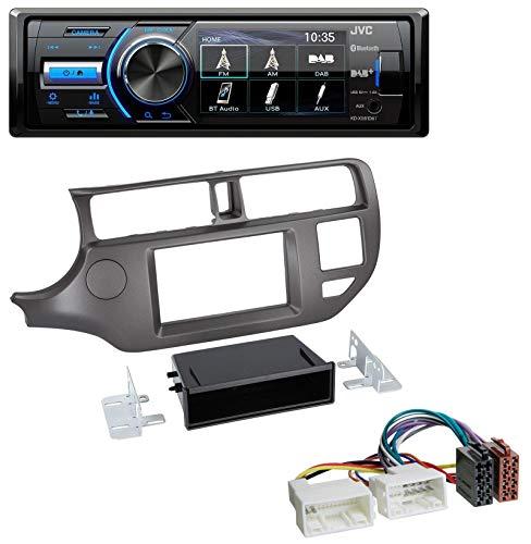 caraudio24 JVC KD-X561DBT Bluetooth MP3 USB DAB Autoradio für Kia Rio (UB 2011-2014) anthrazit Rio Mp3