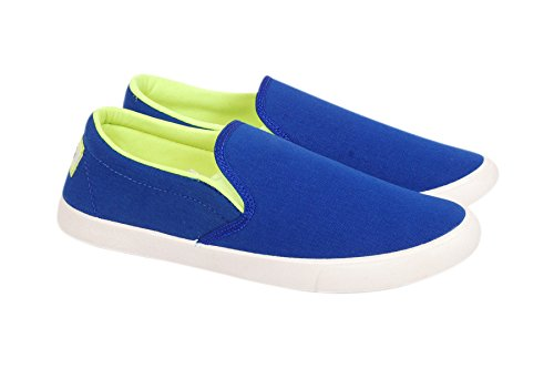 Tyashya Royal Blue-Green Slip On Casual Shoes