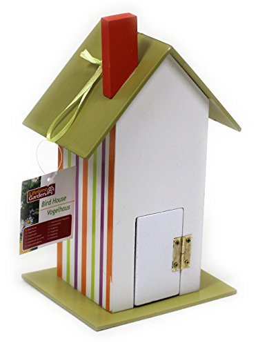Buntes Vogelfutterhaus aus Holz / Grün / 25 x 12 x 14 cm / Nistkasten - 2