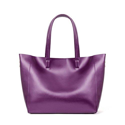 WU Zhi Lady In Pelle Spalla Borse Per La Spesa Borse Purple