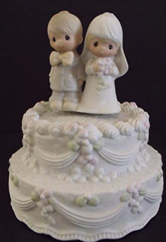 Precious Moments - 'The Lord Bless You And Keep You' Musical Cake Topper/Figurine Plays Wedding March