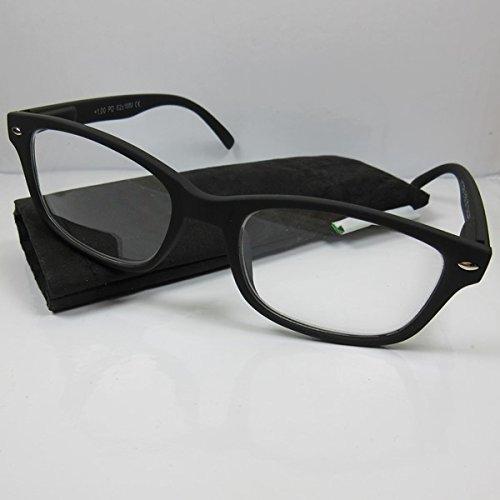 VICTORIA Lesebrille SIE & IHN Modell -CALGARY- schwarz Flexbügel Softtouchoberfläche +3,0 (Brille 267)