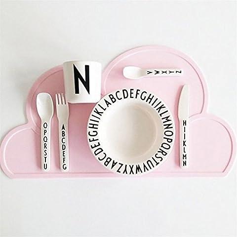 PHIFO Ein Stück rutschfestes Silikon Baby Platte & Tischset & Tischmatte & Essensmatte (Food Grade Pvc-material)