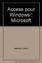 Access pour Windows : Microsoft