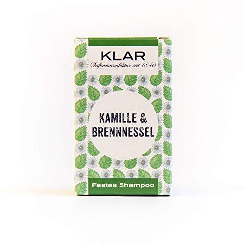 Klar Seifen festes Shampoo Kamille & Brennessel, 100 g -