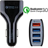 Rapid Car Charger With Powerful 3.1A Current And An Extra USB Cable Having 4 USB Ports For All The IOS, Andriod And Type-C Devices That Works With Every Car And Equipped With The Latest Qualcomm 3.0 Charge Technology Which Gives Fastest Charging Experienc