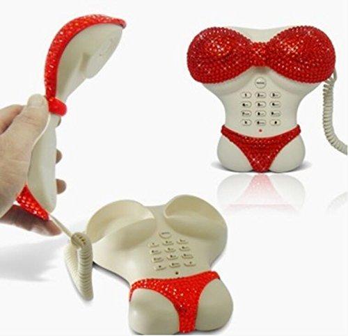 Liu Yu·kreative Heimat, Red ABS Hausdekoration personalisierte Hause verdrahtet feste Telefon (Schnurgebundenes Schnurloses Telefon Headset)