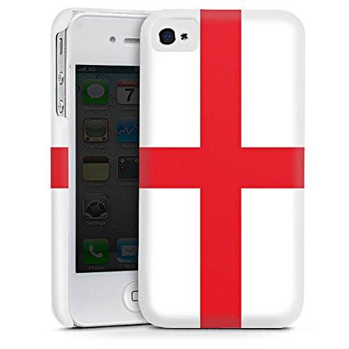 Apple iPhone 5s Housse Étui Protection Coque Angleterre Drapeau Ballon de football Cas Premium mat