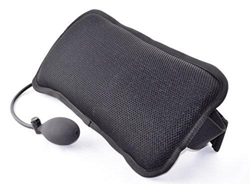 AirCare Ergonomische stufenlos verstellbare Lendenwirbelstütze Pad für unteren Rücken Schmerzlinderung. Hand Pumpe aufblasende Air Zelle und geformten Schaumstoff. Atmungsaktiv Waschbar 3D Netzbezug. -