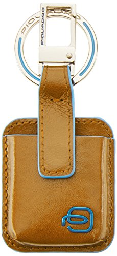 Piquadro Blue Square Portachiavi, Pelle, Giallo, 10 cm