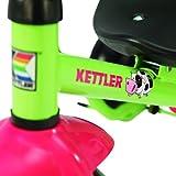 Kettler Funtrike Emma - das coole Dreirad mit Schiebestange - Kinderdreirad für Kinder ab 2 Jahren - stabiles Kinderfahrzeug inkl. kippbarer Sandschale - grün & rot -