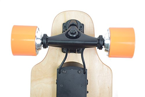 ninestep 36Inch Doble sin escobillas Hub motor eléctrico monopatín LG 4400mAh recargable eléctrico Longboard Hotspot con mando a distancia inalámbrico