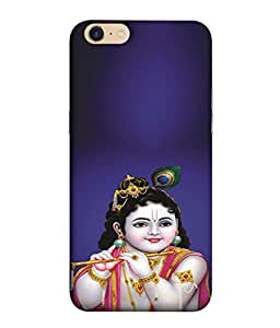 PrintVisa Lord Bal Krishna Kanha 3D Hard Polycarbonate Designer Back Case Cover for Oppo A39