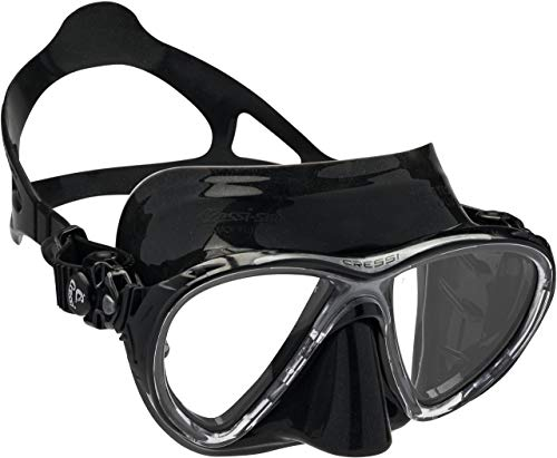 Cressi Big Eyes Evolution - Gafas de buceo unisex, color negro