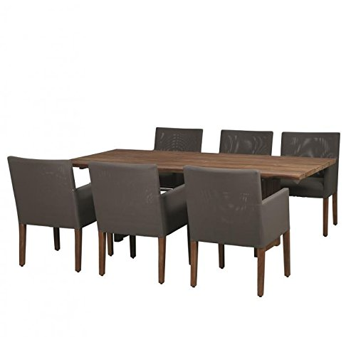 Life Saxonia Teck Salon Carr ibean 6 Personnes/Table de Jardin/terrasse Table/Outdoor