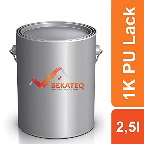 BEKATEQ 1K PU Klarlack LS-150 Holzlack glänzend Treppen Parkett Boote - Farblos - 2,5L