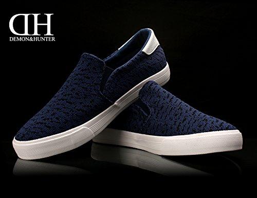 Demon&Hunter KU-DA Series Herren Slip On Sneaker No.III 403297UB x Blau & Schwarz