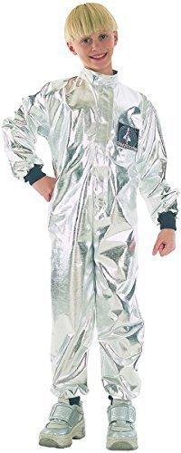 Kinder Ausgefallen Party Feiernder Junge Spaceman Astronaut Buch Woche Tag Outfit Silber - Silbern, M