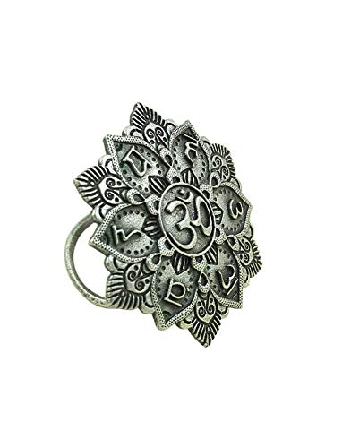 Joharcart Silver Oxidized Antique Rings for Women and Girls