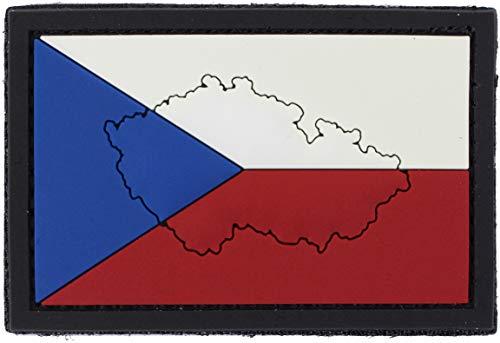 101 INC Parche De PVC Bandera País Velcro 7 x 5 cm