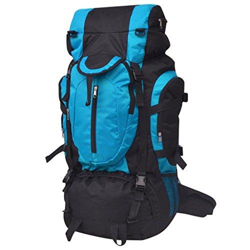 vidaXL Wanderrucksack Reiserucksack Camping Trekking XXL 75 L schwarz und blau