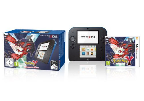 Nintendo 2DS nero-blu + Pokemon Y