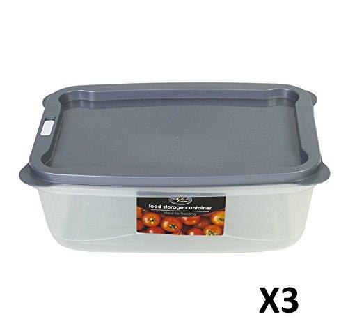 SET VON 3 FOOD STORAGE BOX CONTAINER MIT VENT MIKROWELLEN GEFRIERSCHEIBENSCHUTZ SICHER